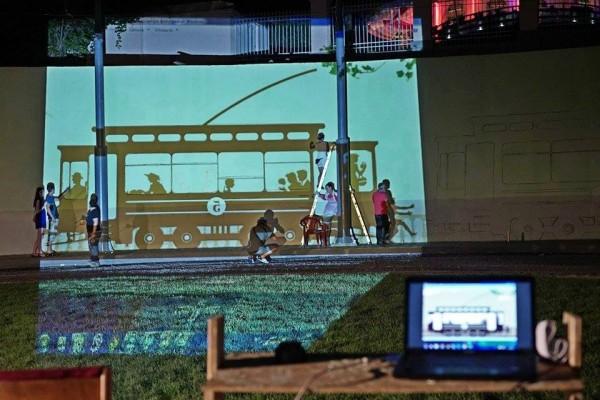 Роспись стен кольца 5го трамвая в Аркадии | Aрт-студия «Peach»