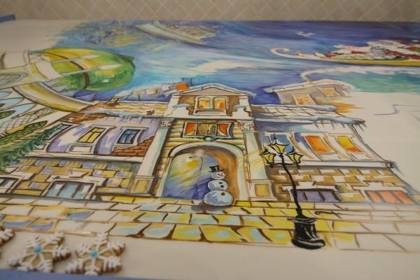 Пряничная открытка в подарок Одесса | Aрт-студия «Peach»