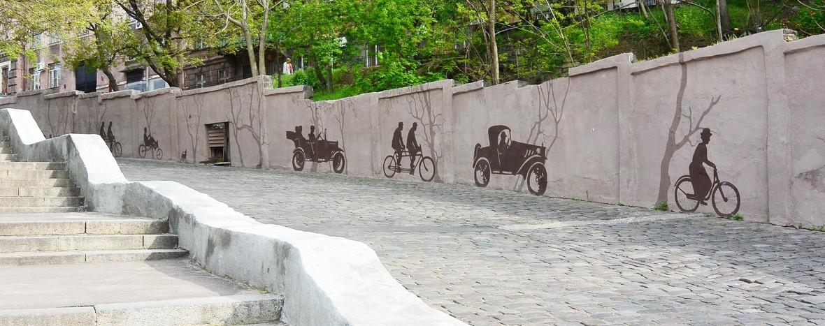 Роспись Карантинного спуска в Одессе | Aрт-студия «Peach»