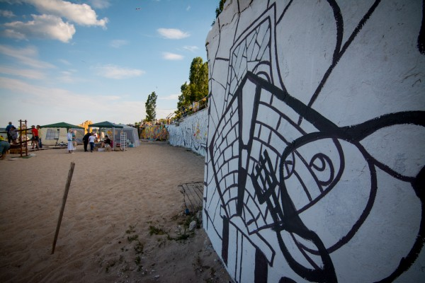 Раскраска в Одессе, Роспись стен на фестивале в Одессе   Aрт-студия «Peach»