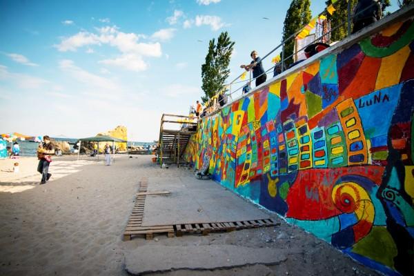 Стрит арт фестиваль на пляже в Одессе 2015   Aрт-студия «Peach»