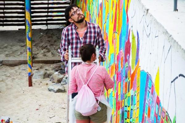 Роспись стен на фестивале в Одессе   Aрт-студия «Peach»