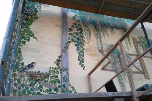 Художественная роспись фасада гостинично – дрессировочного клуба «Лайка» | Aрт-студия «Peach»