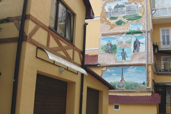 Роспись на стенах Дома Бабеля | Aрт-студия «Peach»