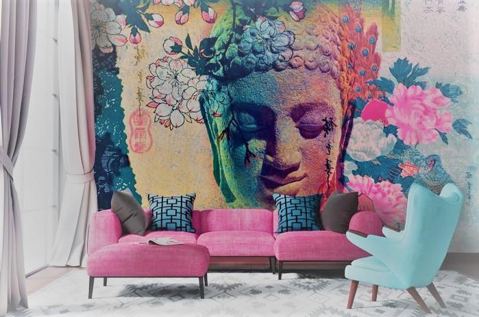 Роспись на стене в квартире | Арт-студия «Peach»