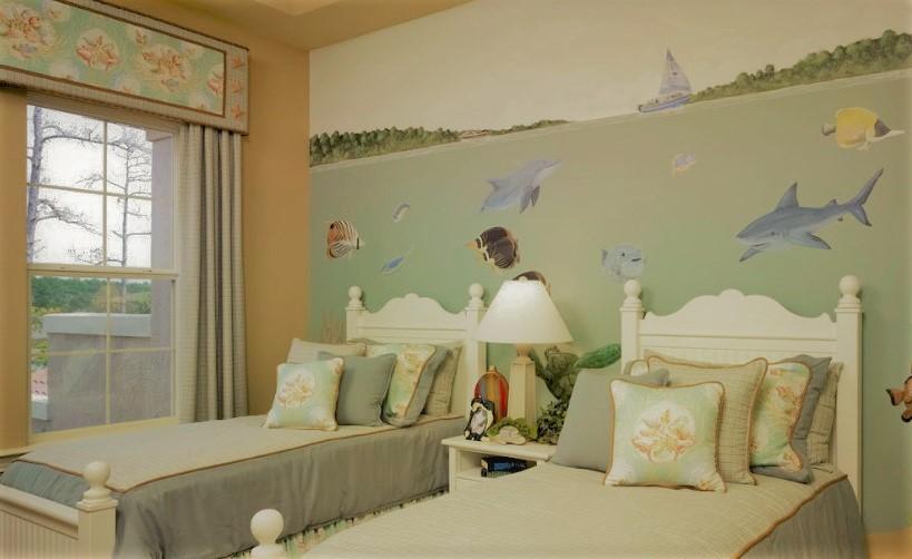 Роспись на стене в детской | Арт-студия «Peach»