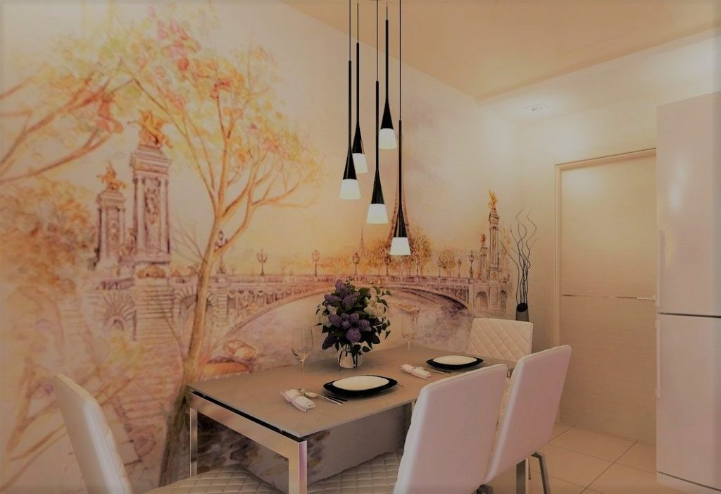 Роспись стен на кухне | Арт-студия «Peach»