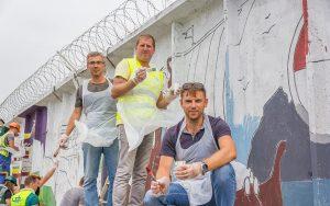 Граффити, гигантская разукраска, Арт Тимбилдинг, Studio Peach, командное творчество, тренинги Одесса
