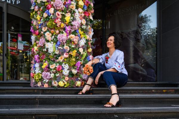 Алевтина Ликторас, цветочное оформление торгового центра